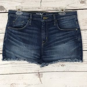 Mossimo Jeans Shorts High-Rise Raw Frayed Mid-Rise
